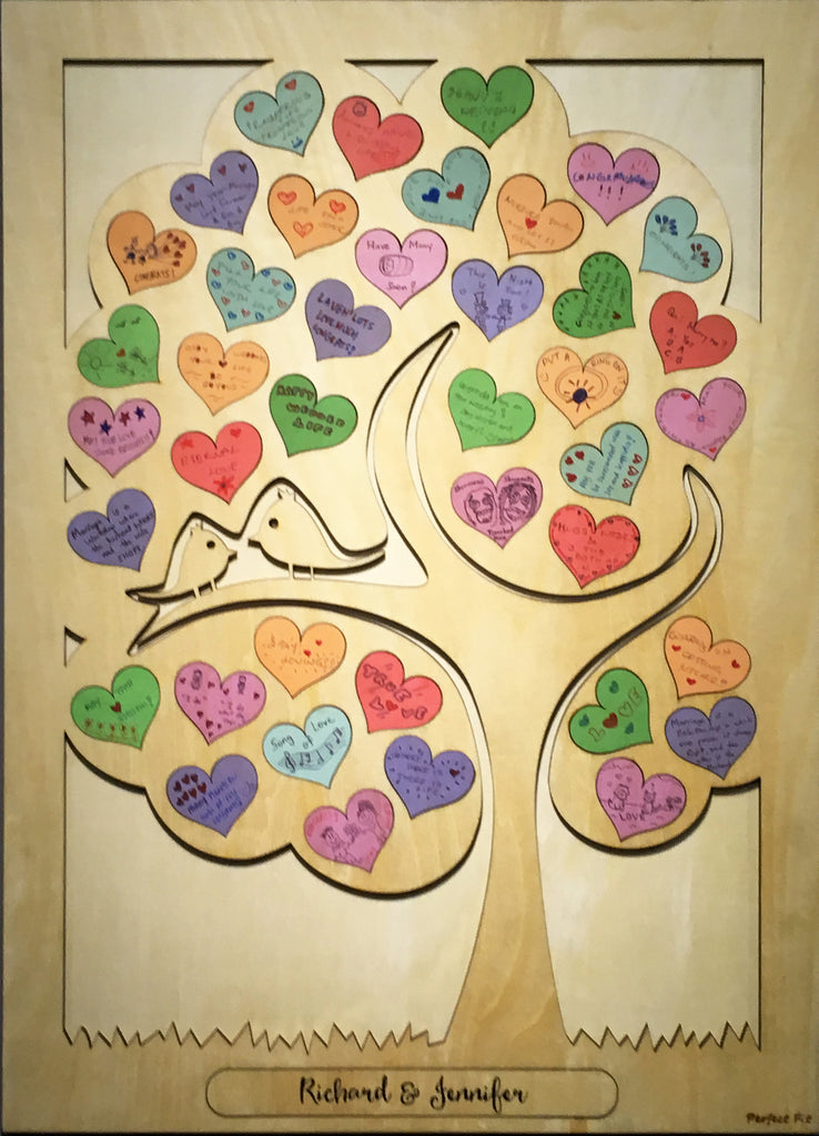 *New* Hearts Wooden Guestbook Puzzles - Tree