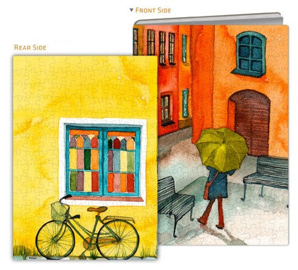 Puzzle Notebook Cover - Les Rues Tranquilles