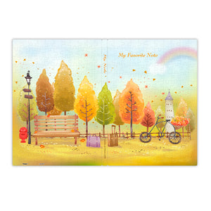 Puzzle Notebook Cover (329 pieces) - Colourful Autumn