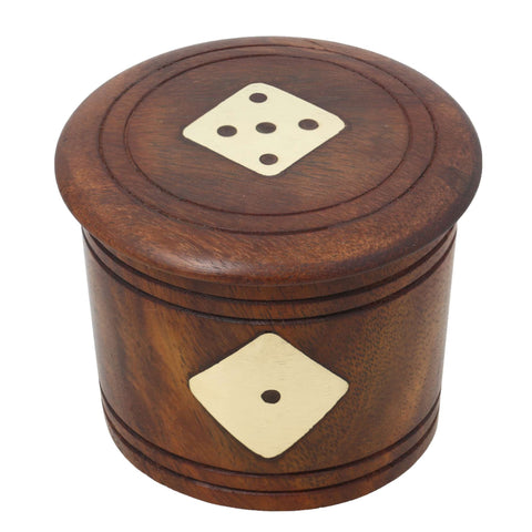 Artisan Dice and Box Set, Handmade Wooden Toys and Games for Families