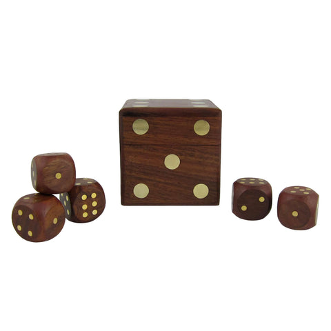 dice games wooden box with five dice set gifts for child
