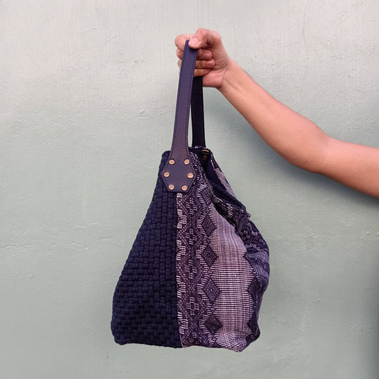 Buslo Navy with Dark Pinilian Weave