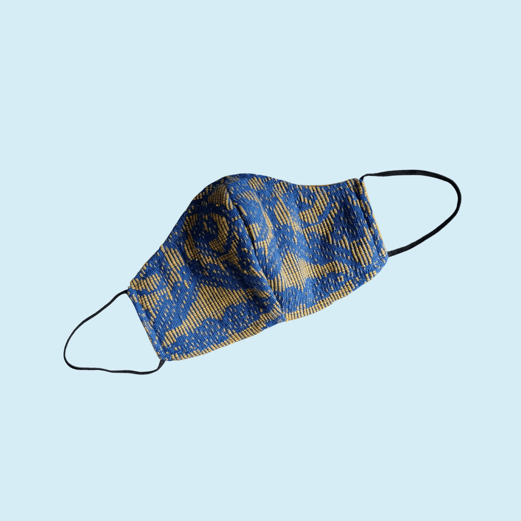 Face Mask with Indigenous Fabric Lifestyle Earth, Too