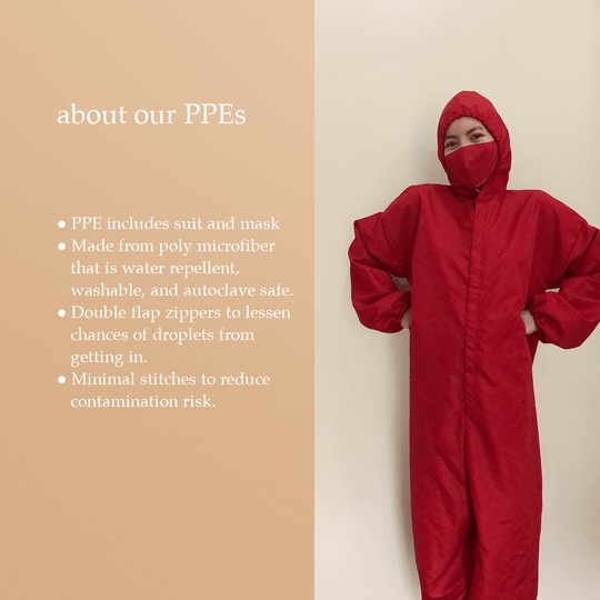 [FOR DONATION] Washable PPE Suit (Assorted Colors)