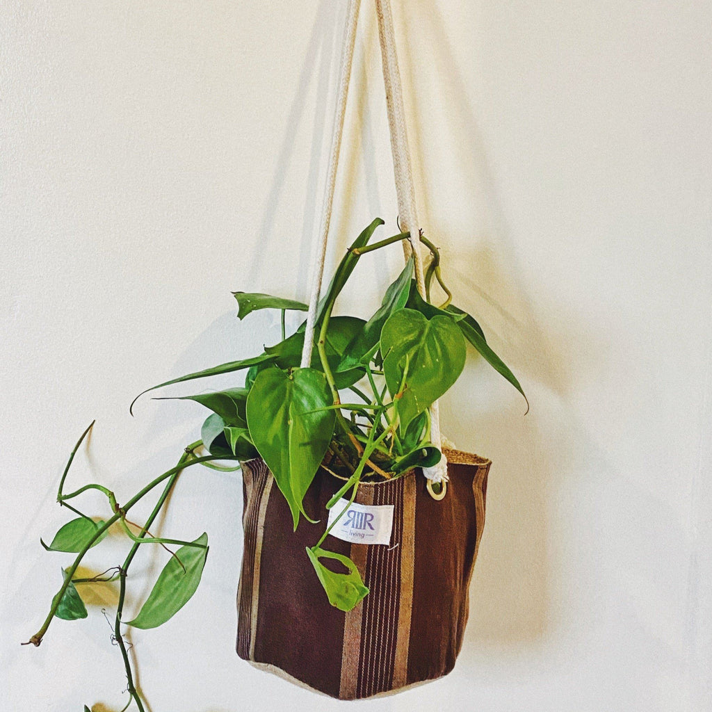 Hanging Planters Kantarines Brown- Large Home Rags2Riches