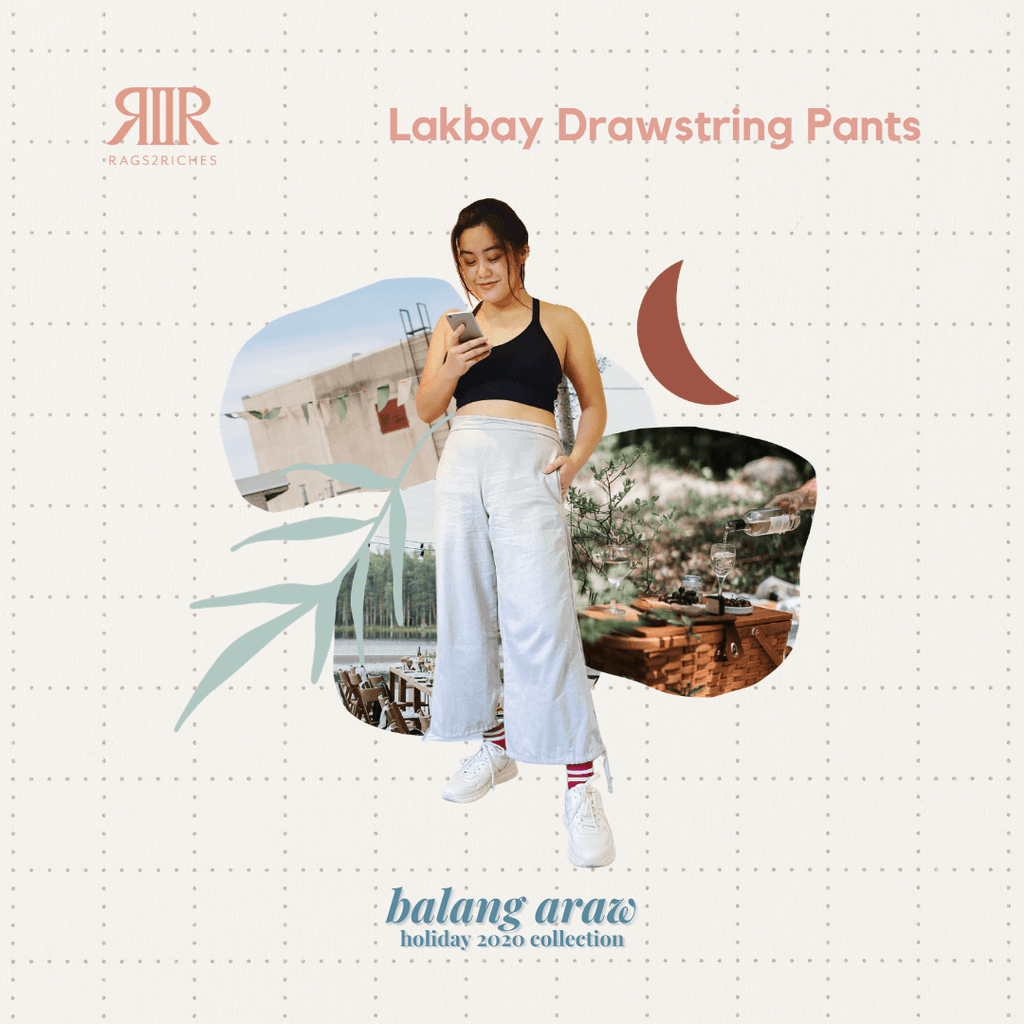 Lakbay Drawstring Pants in Navy Fashion Rags2Riches