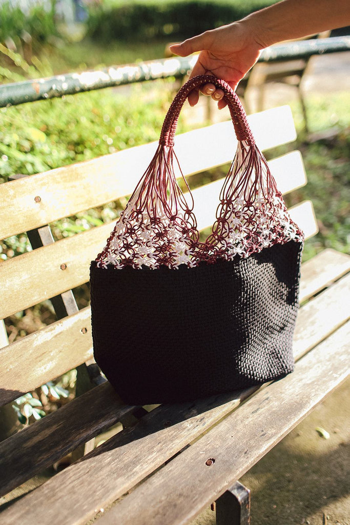 Narra Macrame Tote Black Fashion Rags2Riches