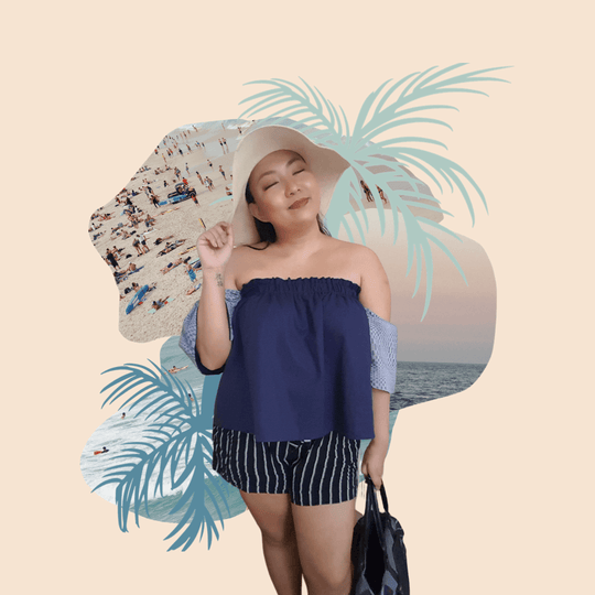 On-Off Shoulder Top in Navy (Balang Araw)
