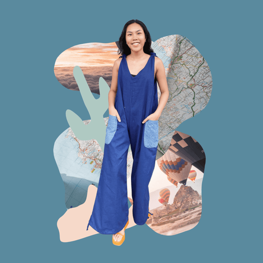 Pasyal Jumpsuit in Navy