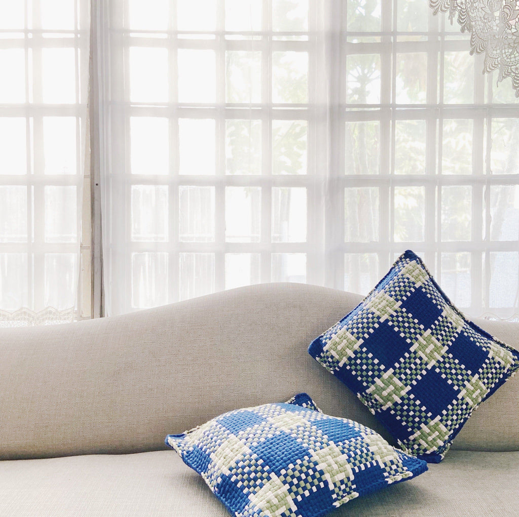 Pixel Pillows - Plaid Home Rags2Riches
