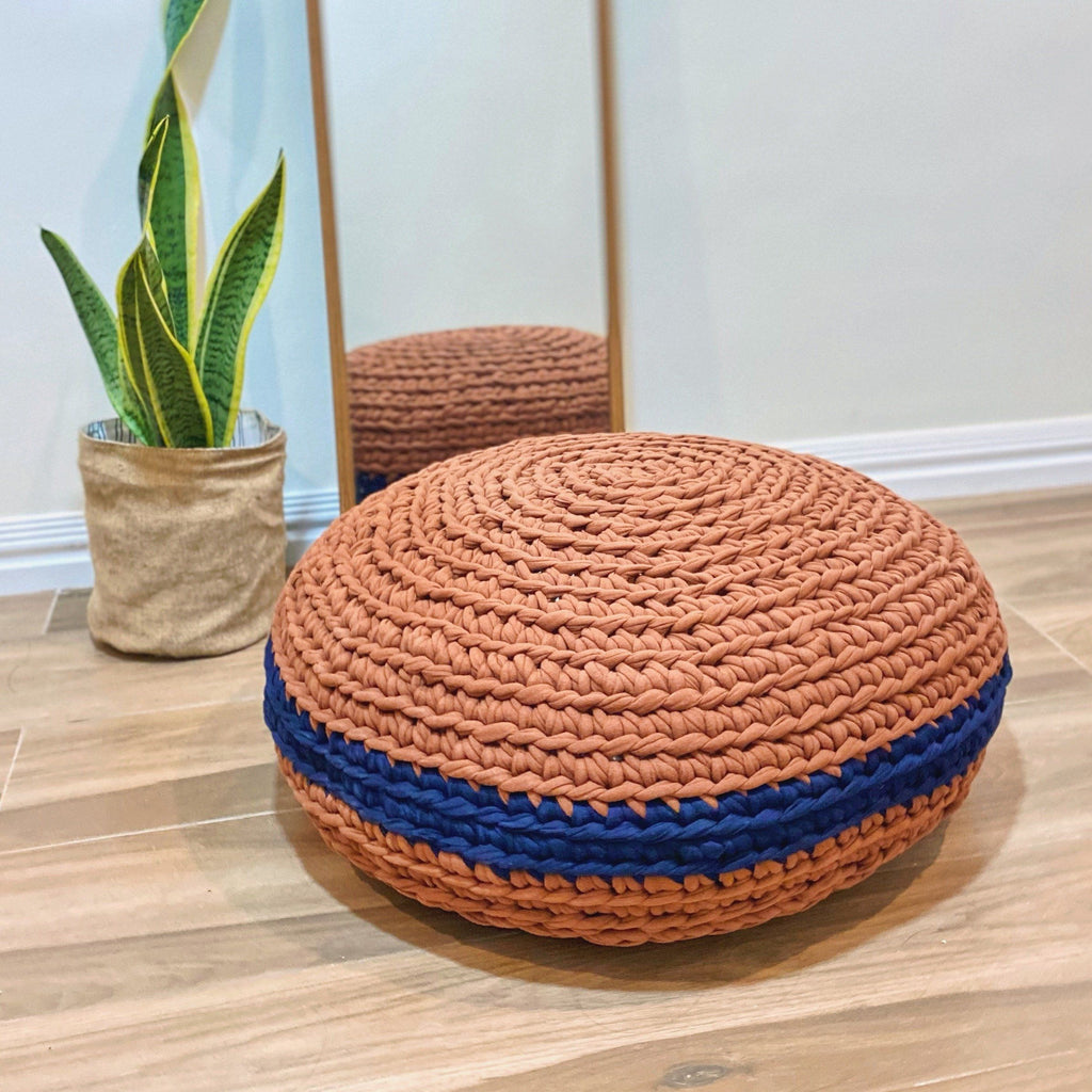 Round Pouf Home Rags2Riches