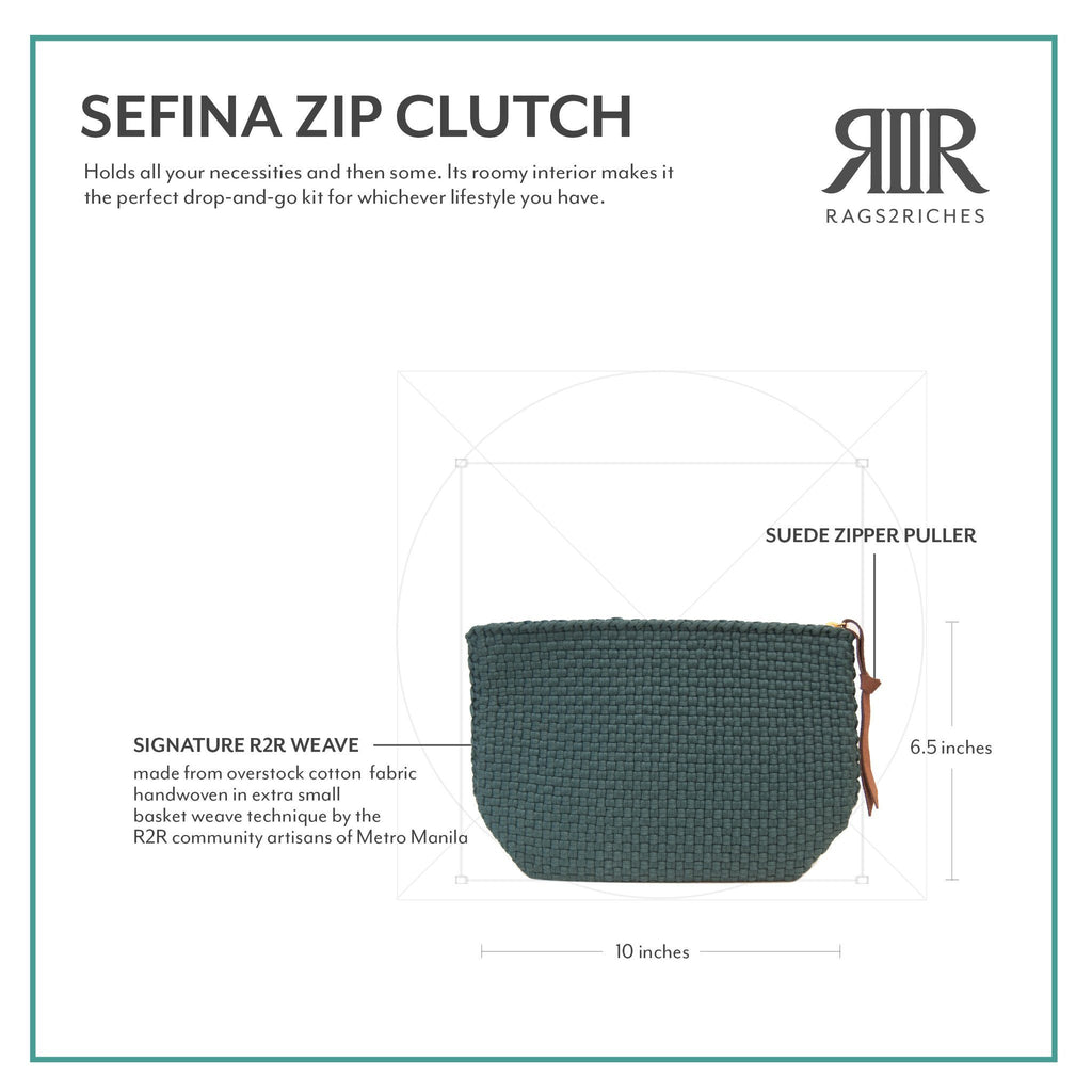 Sefina Zip Clutch Fashion R2R Moving On Collection
