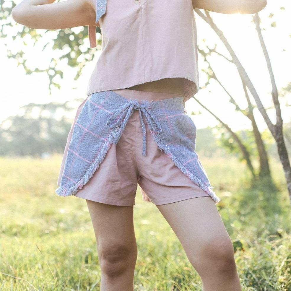 Tulip Shorts Blush Fashion Rags2Riches