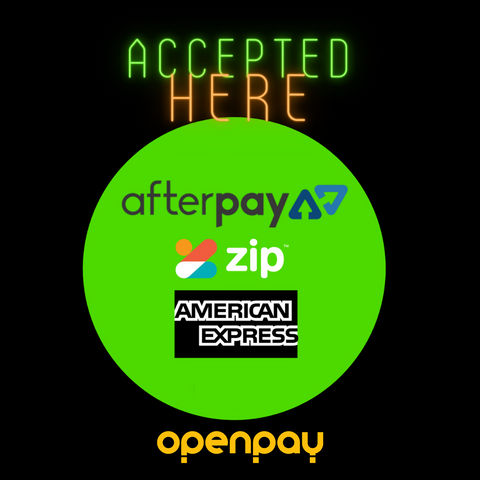 AFTERPAY | ZIP | OPENPAY | AMEX accepted here!