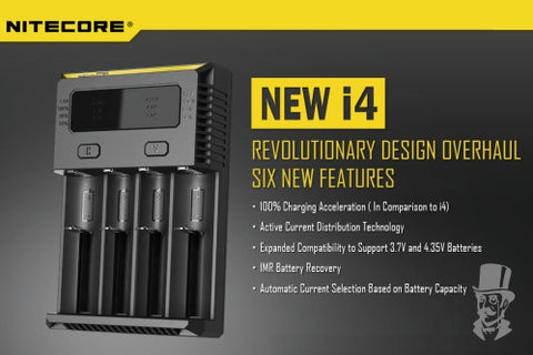 ***NEW*** 2017 Nitecore New i4 Intellicharger Battery Charger - Four Bay