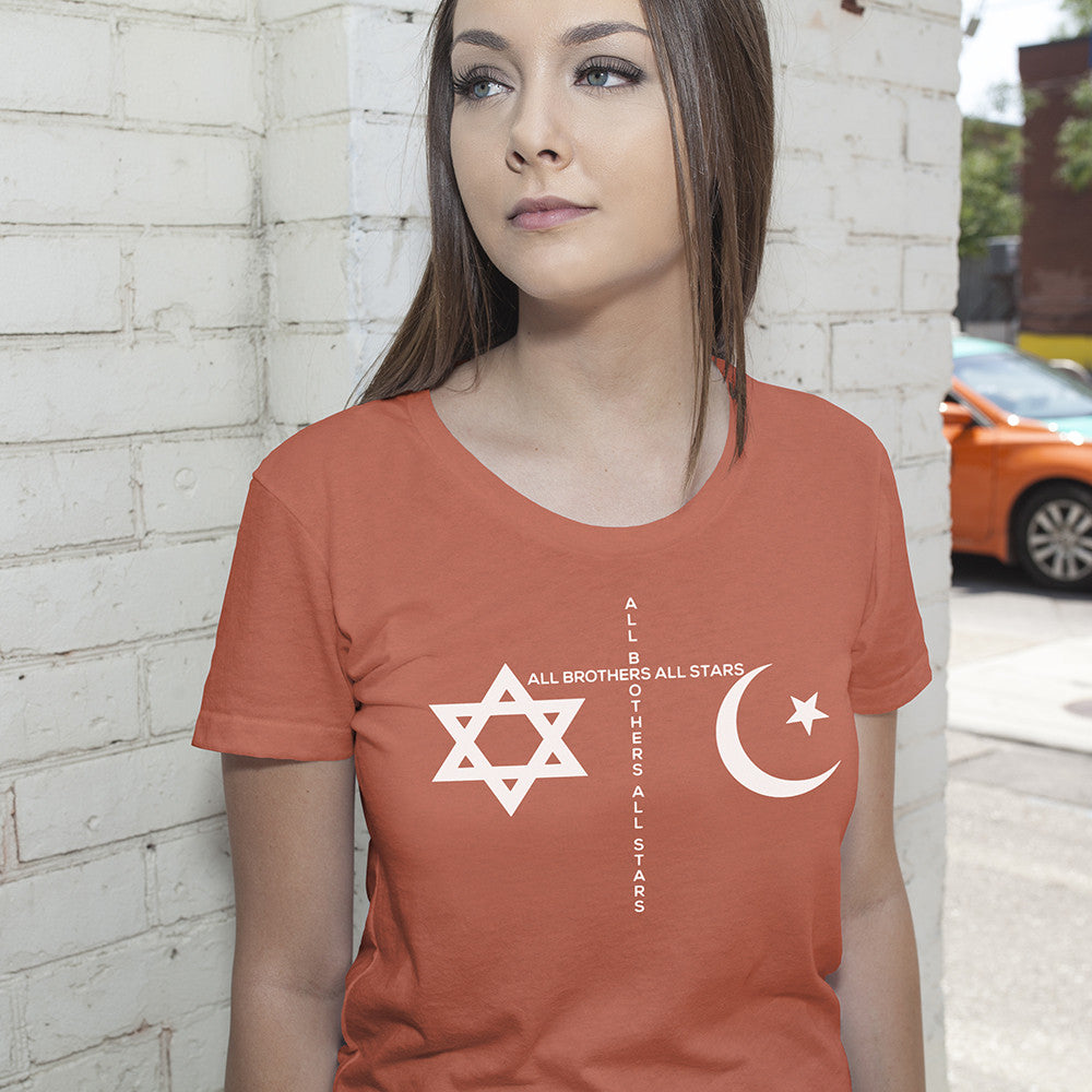 Women's Made in USA Peace T-Shirt - ALL BROTHERS ALL STARS -  - T-shirts - 2