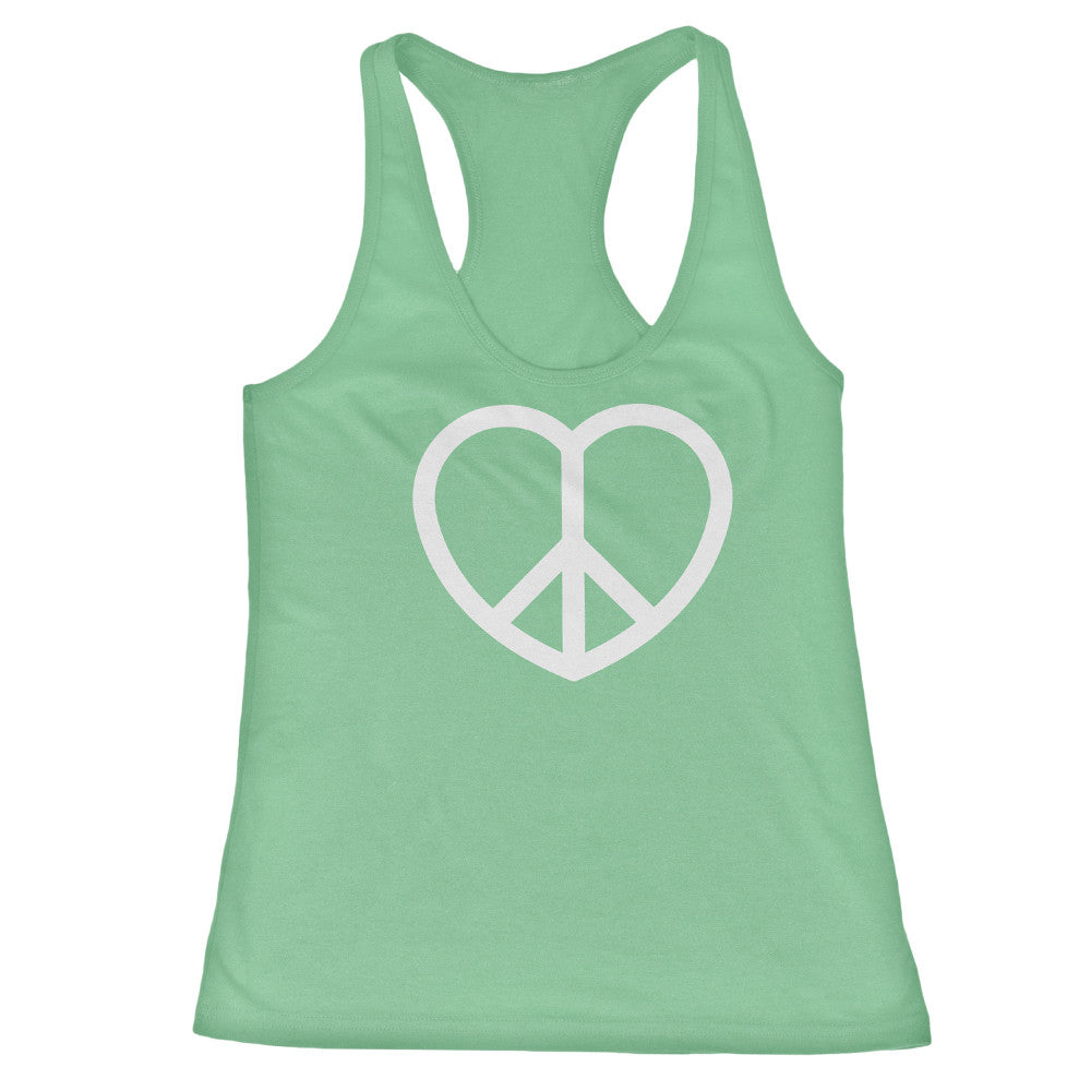 Women's Peace and Love Racerback Tank Top - ALL BROTHERS ALL STARS -  - T-shirts - 3