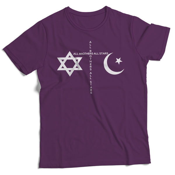 Made in USA Slim-Fit Peace T-Shirt - ALL BROTHERS ALL STARS -  - T-shirts - 1