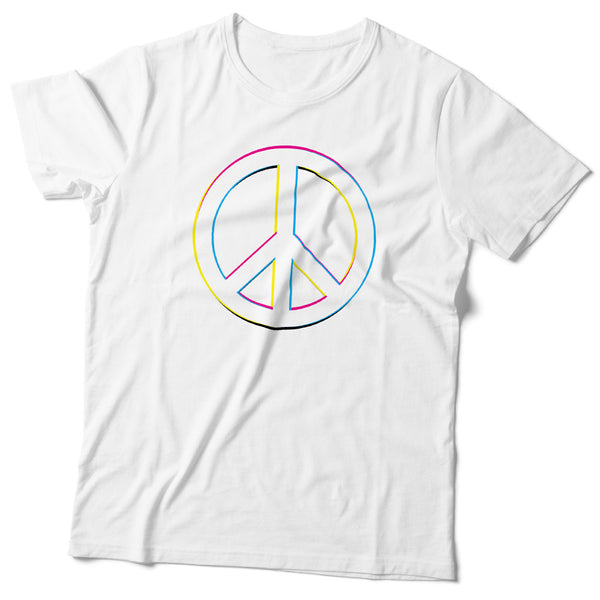 Unisex Peace Symbol T-Shirt - ALL BROTHERS ALL STARS -  - T-shirts