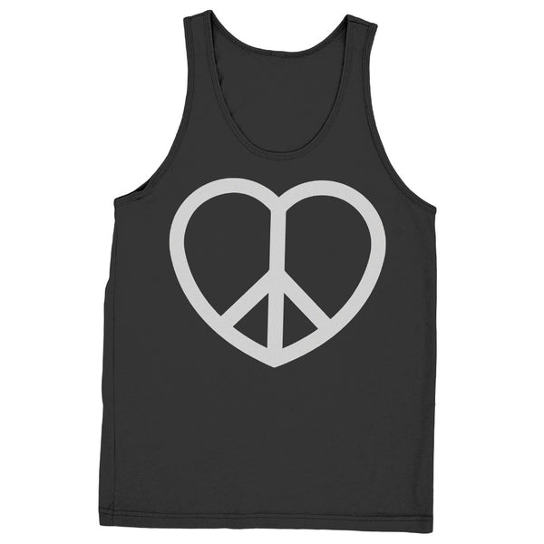 Unisex Peace & Love Sign Tank - ALL BROTHERS ALL STARS -  - T-shirts - 1