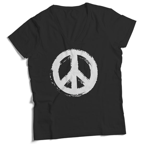 Made in USA V-Neck Peace Sign T-Shirt - ALL BROTHERS ALL STARS -  - T-shirts - 1