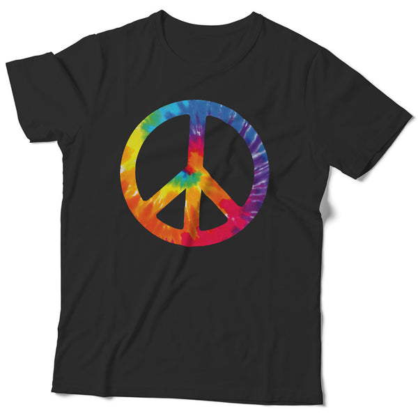 Made in USA Slim-Fit Tie-Dye Peace Sign Tee - ALL BROTHERS ALL STARS -  - T-shirts - 1