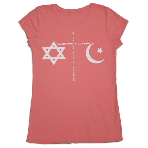 Women's Made in USA Peace T-Shirt - ALL BROTHERS ALL STARS -  - T-shirts - 1