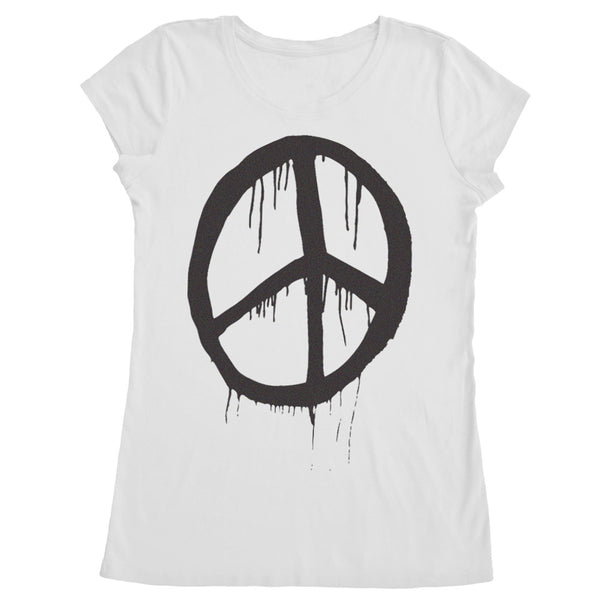 Women's Made in USA Peace Sign T-Shirt - ALL BROTHERS ALL STARS -  - T-shirts - 1