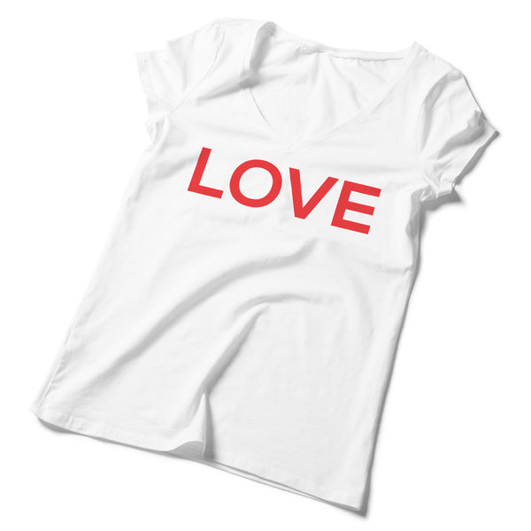 Women's V-Neck Love T-Shirt - ALL BROTHERS ALL STARS -  - T-shirts - 1