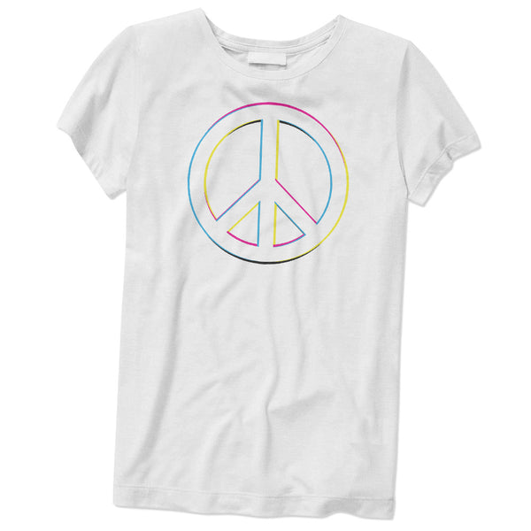 Women's Peace Sign T-Shirt - ALL BROTHERS ALL STARS -  - T-shirts - 1