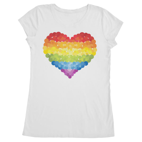 Women's Made in USA Rainbow Heart Pride T-Shirt - ALL BROTHERS ALL STARS -  - T-shirts - 1