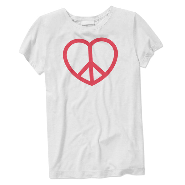 Women's Peace and Love Sign T-Shirt - ALL BROTHERS ALL STARS -  - T-shirts - 1