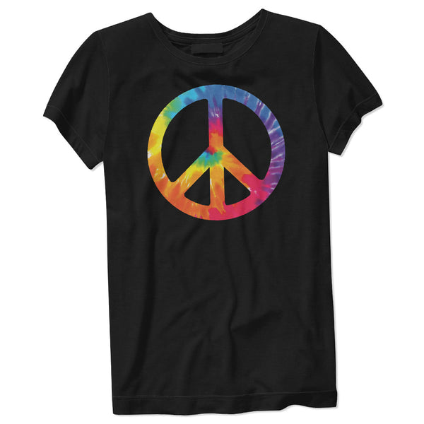 Women's Tie-Dye Peace Sign T-Shirt - ALL BROTHERS ALL STARS -  - T-shirts - 1