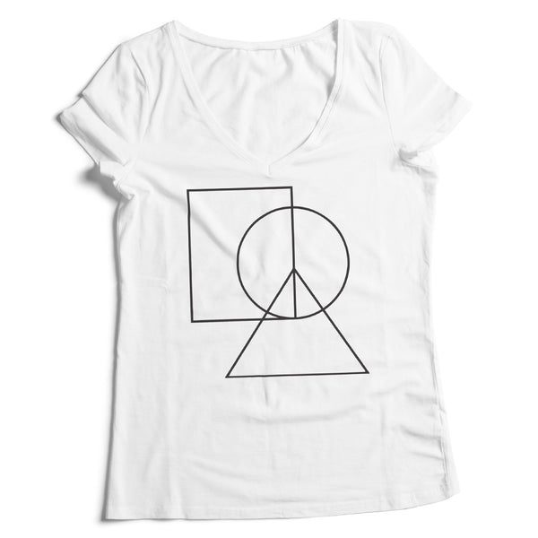 Women's V-Neck Peace Sign Tee - ALL BROTHERS ALL STARS -  - T-shirts - 1