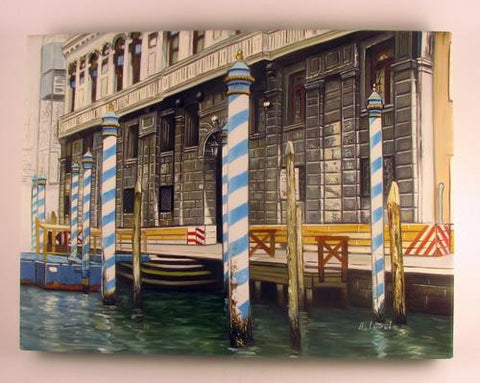 Oil on Canvas The Mooring Poles Image