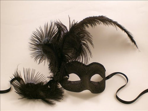 Venetian Feathered Elegance Mask Image