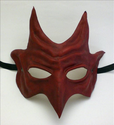 Leather Belphegor Mask Red Image