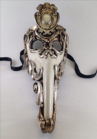 Plague Doctor Baroque Aperto Silver and White Image