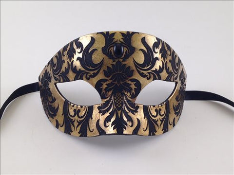 Colombine Demask Tuxedo Black and Gold Image