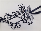 Venetian Mask Laser Cut Metal Tattoo Image