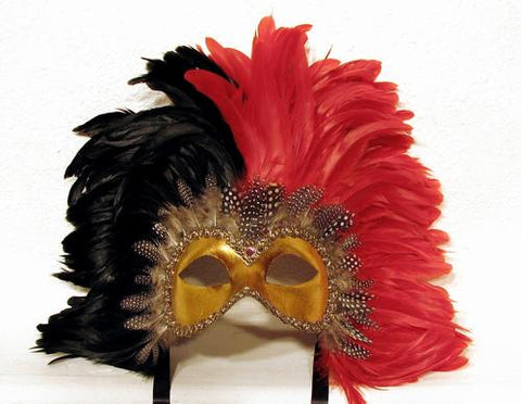 Feathered Colombine Reale two tone RedBlack Image