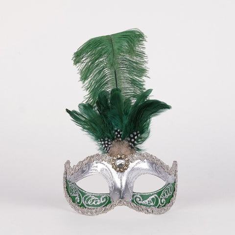 Feathered Colombine Sisi Green and Silver Image