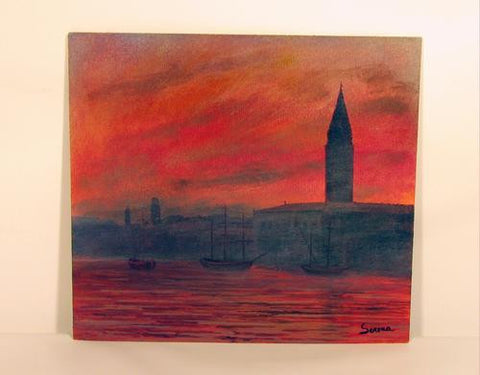 Acrylic on Panel Venezia al crepuscolo destate Image