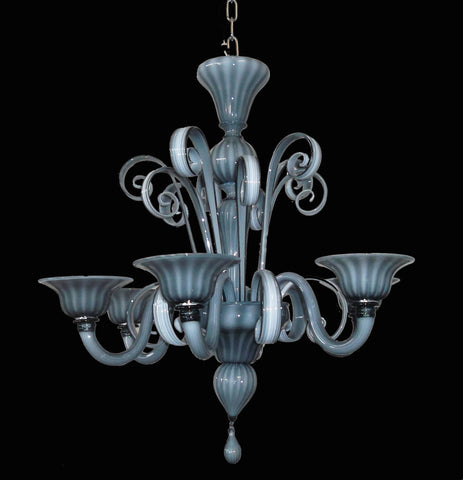 Murano Glass Chandelier Grigio 530