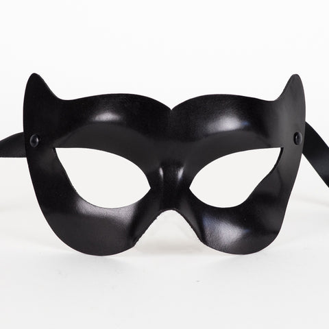 Colombine Leather Feline Vamp Eye Mask Image