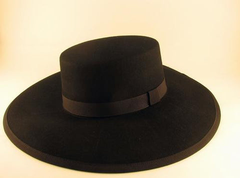 Venetian Plague Doctor Hat Black Image
