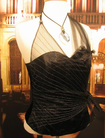 Venetian Tailored Corset Fiocco Black Image