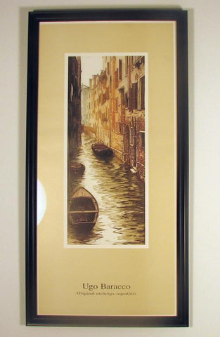 Ugo Barocco Framed Print The Canal Image