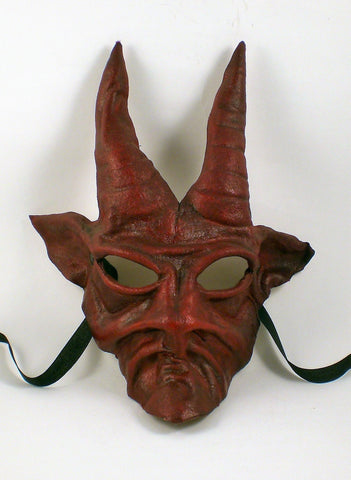 Leather Devil Baphomet Mask Red Image