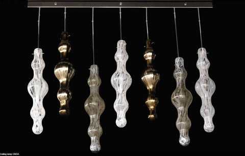 Murano Glass Hanging Onda Ceiling Light Image